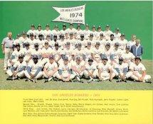 Dodgers 1974 LA Team Original Stadium Photo With Facsimile Autographs on Back 8X10 Photo