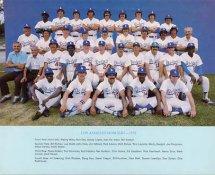 Dodgers 1976 LA Team Original Stadium Photo With Facsimile Autographs on Back 8X10 Photo