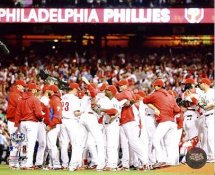 Phillies 2009 NLCS Game 5 Win Phillies Team 8X10 Photo