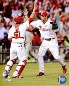 Carlos Ruiz & Brad Lidge NLCS Game 5 Win LIMITED STOCK 2009 Phillies 8X10 Photo