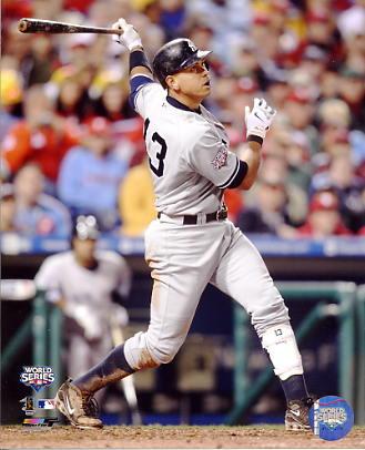 Alex Rodriguez 2009 World Series Game 3 Home Run New York Yankees 8X10 Photo