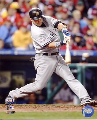 Nick Swisher 2009 World Series Game 3 Home Run New York Yankees 8X10 Photo