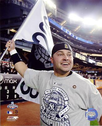 Nick Swisher 2009 World Series Game 6 Celebration New York Yankees 8X10 Photo