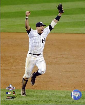 Alex Rodriguez Celebrates 2009 World Series Game 6 Win New York Yankees 8X10 Photo