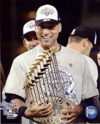 Derek Jeter With 2009 World Series Trophy New York Yankees LIMITED STOCK 8X10 Photo