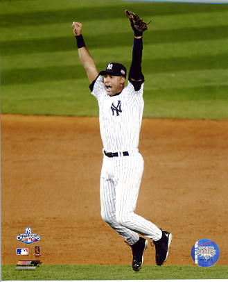 Derek Jeter 2009 World Series Game 6 Celebration New York Yankees LIMITED STOCK 8X10 Photo