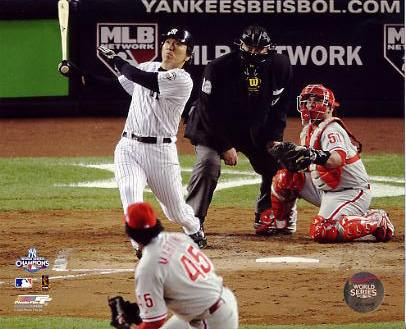 Hideki Matsui 2009 World Series 2 Run Home Run Game 6 New York Yankees LIMITED STOCK 8X10 Photo