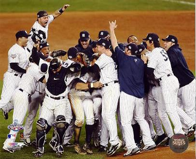 Yankees 2009 New York World Series Celebration Game Six 8X10 Photo