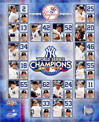 Yankees 2009 New York World Series Champions Composite LIMITED STOCK 8X10 Photo