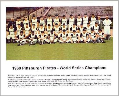 Pirates 1960 Pittsburgh World Series Champs Team Photo Limited Stock Rare Pirates 8X10 Photo