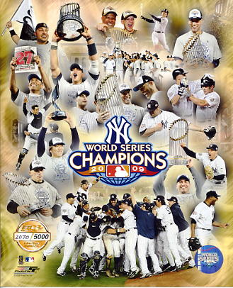 Yankees 2009 World Series LTD Composite 8X10 Photo