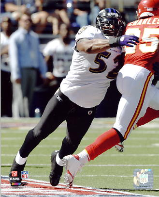 Ray Lewis LIMITED STOCK Baltimore Ravens 8X10 Photo