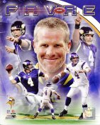 Brett Favre Composite Minnesota Vikings 8X10 Photo