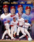 Jim Thome, Bobby Abreu, Pat Burrell & Jimmy Rollins G1 Limited Stock Rare Phillies 8X10 Photo