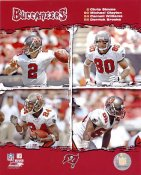 Chris Simms, Michael Clayton, Carnell Williams & Derrick Brooks G1 Limited Stock Rare Buccaneers 8X10 Photo