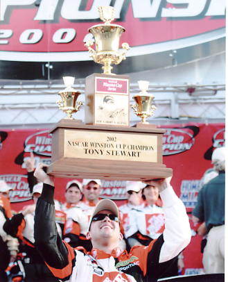 Tony Stewart 2002 Winston Cup Champ Home Depot 8X10 Photo