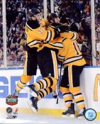 Patrice Bergeron, Zdeno Chara & Marco Sturm Winning Goal 2010 Winter Classic Boston Bruins 8x10 Photo