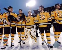 Bruins 2010 Post Game Line Up Winter Classic Boston 8x10 Photo