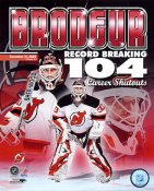 Martin Brodeur Record Breaking Career Shutouts 104 LIMITED STOCK New Jersey Devils 8x10 Photo