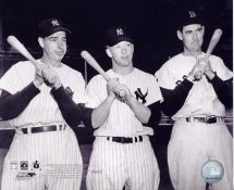 Joe DiMaggio , Mickey Mantle and Ted Williams LIMITED STOCK   NY Yankees 8X10 Photo