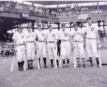 Joe DiMaggio, Fox, Cronin, Gehringer  NY Yankees 8X10 Photo