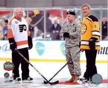 Bobby Clarke & Bobby Orr 2010 Winter Classic Flyers vs Bruins 8x10 Photo