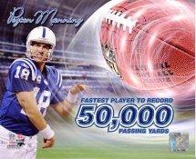 Peyton Manning 50,000 Passing Yards Indianapolis Colts 8X10 Photo