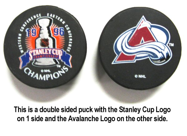Avalance 1996 Puck Stanley Cup Hockey Puck