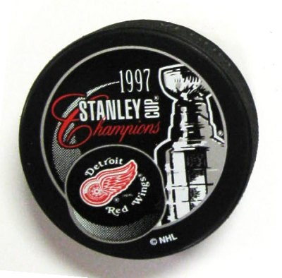 Detroit 1997 Red Wings Puck Stanley Cup Hockey Puck