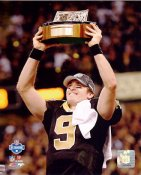 Drew Brees 2009 NFC Champions Trophy NO Saints 8X10 Photo