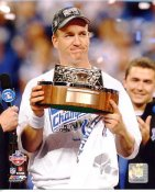 Peyton Manning 2009 AFC Trophy LIMITED STOCK Indianapolis Colts 8X10 Photo