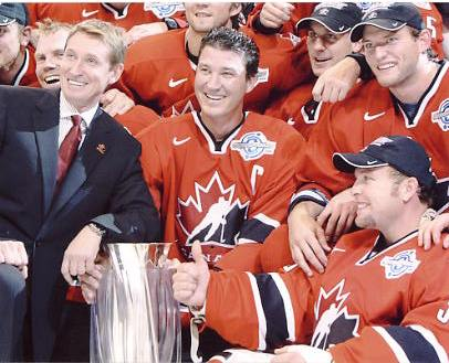 Martin Brodeur, Mario Lemieux & Wayne Gretzky 2004 Olympics 8x10 Photo