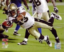 Pierre Thomas Super Bowl 44 Touchdown LIMITED STOCK NO Saints 8X10 Photo