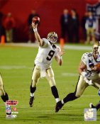 Drew Brees Super Bowl 44 NO Saints SATIN 8X10 Photo