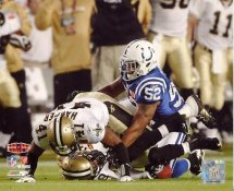 Roman Harper & Chris Reis Super Bowl 44 Onside Kick Recovery NO Saints 8X10 Photo