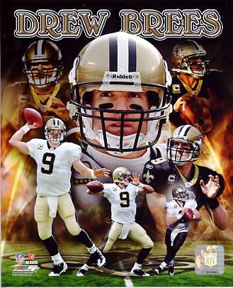 Drew Brees Portrait Plus NO Saints SATIN 8X10 Photo