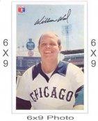 William Wood Chicago White Sox 6x9 Original 1960 -1970 Souvenir Photo 6X9 Photo