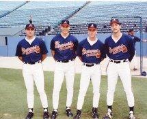 Steve Avery, John Smoltz, Tom Glavine & Pete Smith Young Pitchers Atlanta Braves 8X10 Photo