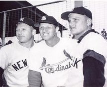 Mickey Mantle, Stan Musial & Roger Maris New York Yankees 8x10 Photo