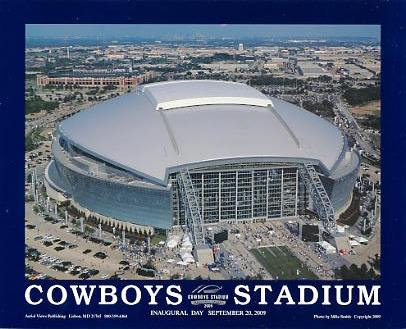 A1 Cowboys Stadium Inaugural Day 9/20/2009 Aerial 8x10 Photo
