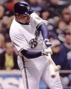 Carlos Lee Milwaukee Brewers 8X10 Photo