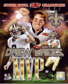 Drew Brees Super Bowl 44 MVP Composite NO Saints 8X10 Photo