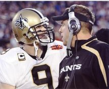 Sean Payton & Drew Brees Super Bowl 44 NO Saints 8X10 Photo