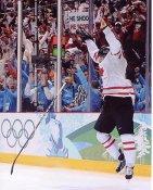 Sidney Crosby Game Winning Goal Celebration Team Canada 2010 Olympics 8x10 Photo