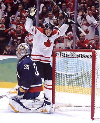 Sidney Crosby Game Winning Goal Team Canada 2010 Olympics 8x10 Photo
