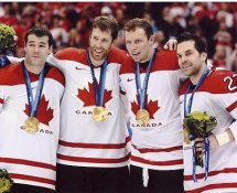 Joe Thornton, Rick Nash, Dany Heatley, Dan Boyle San Jose Sharks Players Team Canada Olympics 2010 8x10 Photo
