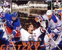 Wayne Gretzky Oilers, Rangers, Blues & Kings Collage 8x10 Photo