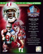Jerry Rice 2010 Hall Of Fame Composite 8X10 Photo