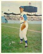 Jim Hickman Original Stadium Souvenir With Stamped Signature Dodgers 8X10 Photo
