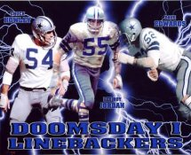 Dave Edwards, Chuck Howley & Lee Roy Jordan Doomsday I Linebackers Dallas Cowboys 8X10 Photo